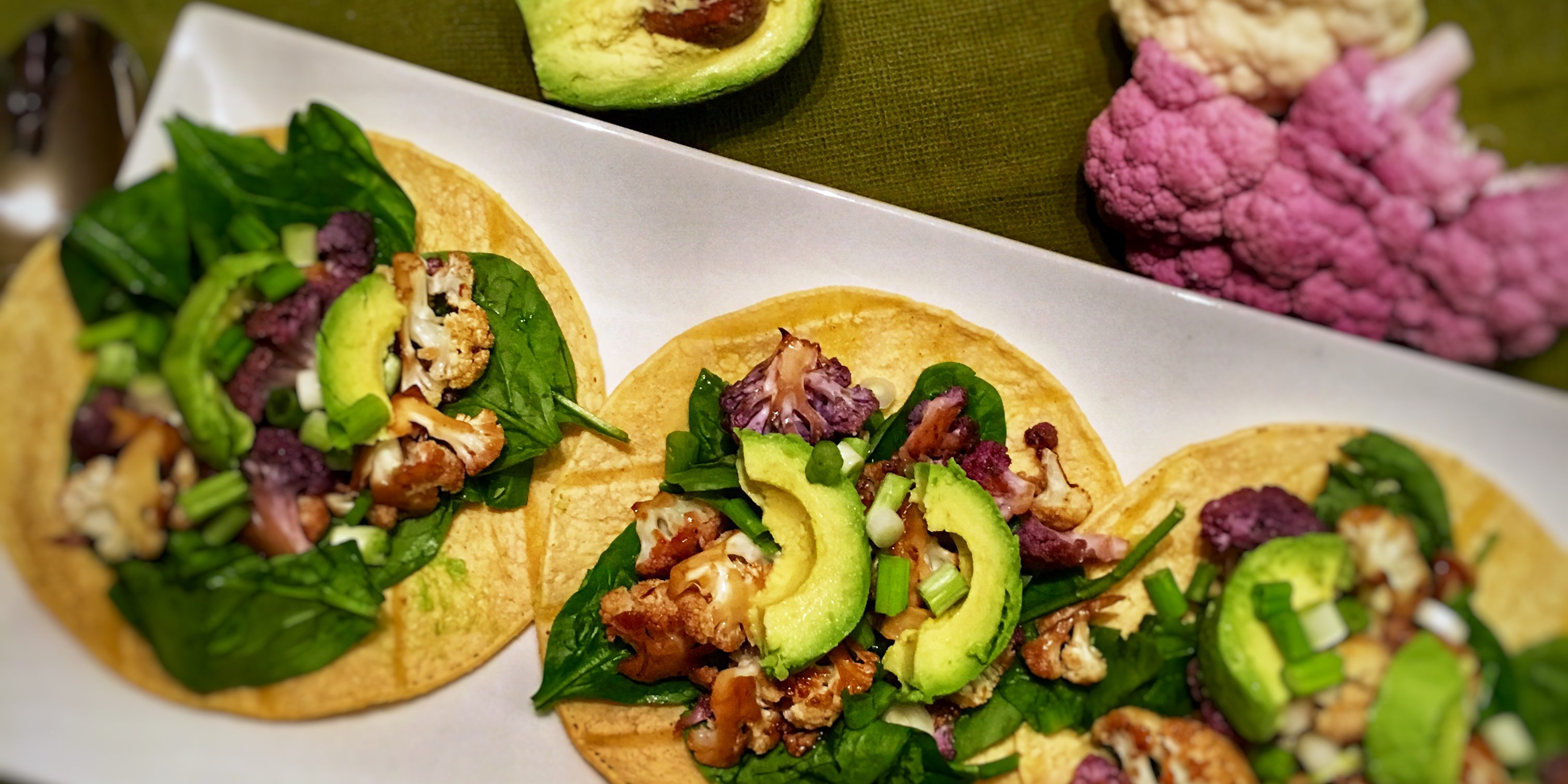 Vegan Korean Cauliflower Tacos Recipe The Lifestyle Dietitian