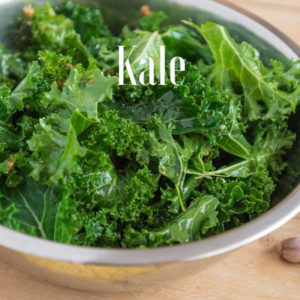 Kale a green leafy veggie